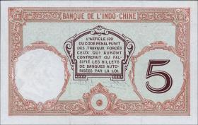 Neu Kaledonien / New Caledonia P.36b 5 Francs (1926) (1-)