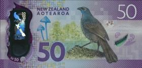 Neuseeland / New Zealand P.neu 50 Dollars 20(16) Polymer (1)