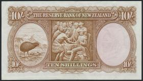 Neuseeland / New Zealand P.158d 10 Shillings (1960-67) (3+)