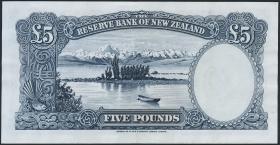 Neuseeland / New Zealand P.160a 5 Pounds (1940-55) (2)