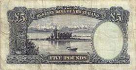 Neuseeland / New Zealand P.160b 5 Pounds (1955-56) (3-)