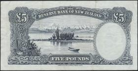 Neuseeland / New Zealand P.160c 5 Pounds (1956-60) (3)