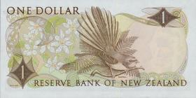 Neuseeland / New Zealand P.163d 1 Dollar (1977-81) * Ersatznote (1)