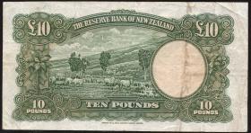 Neuseeland / New Zealand P.161a 10 Pounds (1940-1955) (3-)