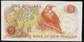 Neuseeland / New Zealand P.165b 5 Dollars (1967-75) (2+)