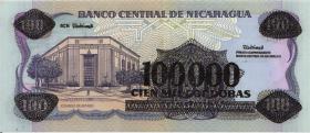 Nicaragua P.159 100.000 Cordobas (1989) (2)