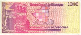 Nicaragua P.165 5.000.000 Cordobas (1990) (1)