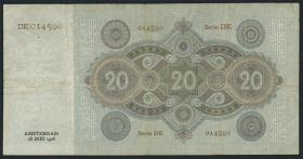 Niederlande / Netherlands P.044 20 Gulden 1926 (3)
