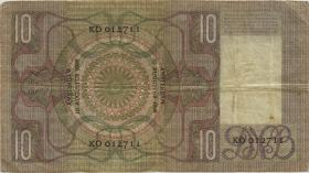 Niederlande / Netherlands P.049 10 Gulden 1936 (3-)