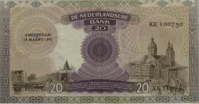 Niederlande / Netherlands P.054 20 Gulden 1941 (2)