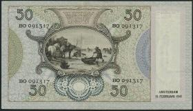 Niederlande / Netherlands P.058 50 Gulden 1941 (2)