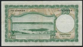 Niederlande / Netherlands P.076 20 Gulden 1945 (3)