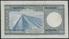 Niederlande / Netherlands P.080 1000 Gulden 1945 (3+)