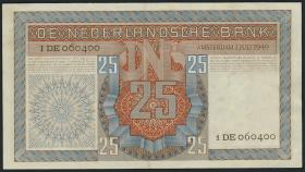 Niederlande / Netherlands P.084 25 Gulden 1949 (2+)