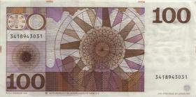 Niederlande / Netherlands P.093 100 Gulden 1970 (3+)