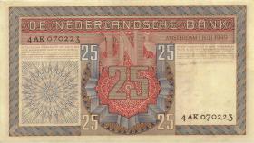 Niederlande / Netherlands P.084 25 Gulden 1949 (3+)