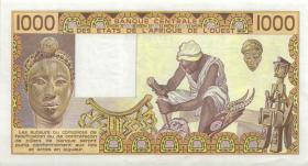 West-Afr.Staaten/West African States P.607Ha 1000 Francs 1988 (1)