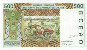 West-Afr.Staaten/West African States P.610Hh 500 Francs 1997 Niger (1)