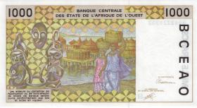 West-Afr.Staaten/West African States P.611Ha 1000 Francs 1991 Niger (1)
