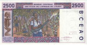 West-Afr.Staaten/West African States P.612Hc 2500 Francs 1994 Niger (1)