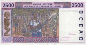 West-Afr.Staaten/West African States P.612Hc 2500 Francs 1993 Niger (1)