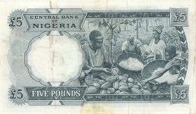 Nigeria P.09 5 Pounds (1967) (3)