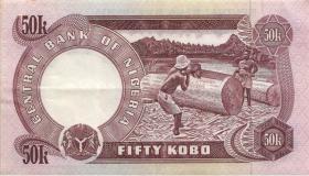 Nigeria P.14d 50 Kobo (1973-78) (2)