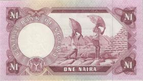 Nigeria P.15b 1 Naira (1973-78) (2+