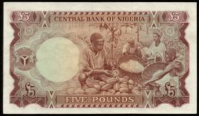 Nigeria P.13a 5 Pounds (1968) (1/1-)