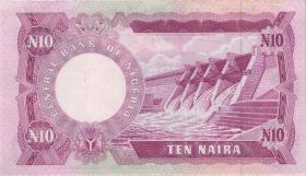 Nigeria P.17b 10 Naira (1973-78) (2+)
