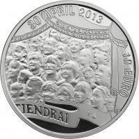 Niederlande 10 Euro 2013 König Willem Alexander Silber PP