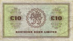 Nordirland / Northern Ireland, Northern Bank P.189e 10 Pounds 1985 (3-)