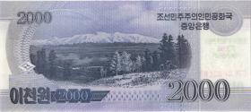 Nordkorea / North Korea P.neu 2000 Won 2018 Gedenkbanknote (1)