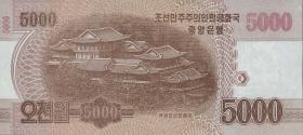 Nordkorea / North Korea P.CS18 5000 Won 2013 (2016) Gedenkbanknote (1)