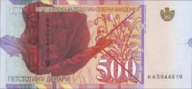 Nordmazedonien / North-Macedonia P.neu 500 Denari 2020 Polymer (1)