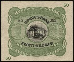 Norwegen / Norway P.09d 50 Kronen 1941 (2+)