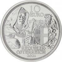 Österreich 10 Euro 2021 Brüderlichkeit Silber