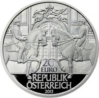 Österreich 20 Euro 2015 450 Jahre Spanische Hofreitschule PP