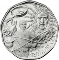Österreich 5 Euro 2014 Neujahrsmünze im Folder