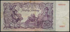 Österreich / Austria P.130 50 Schilling 1951 (3)