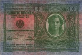 Österreich / Austria P.056 100 Kronen 1912 (1919) (1)