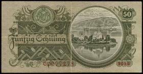 Österreich / Austria P.117 50 Schilling 1945 ohne Wzz. (3+)