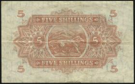Ost Afrika / East Africa P.28a 5 Shillings 1939 (3)