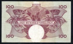Ost Afrika / East Africa P.44b 100 Shillings (1961-63) (3)