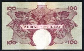 Ost Afrika / East Africa P.44b 100 Shillings (1961-63) (3+)