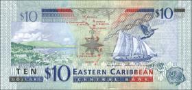Ost Karibik / East Caribbean P.52 10 Dollars (2012)