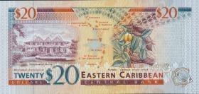 Ost Karibik / East Caribbean P.33k 20 Dollars (1994) (1)