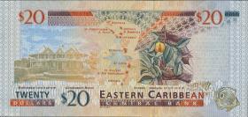 Ost Karibik / East Caribbean P.39a 20 Dollars (2000) Antigua (1)
