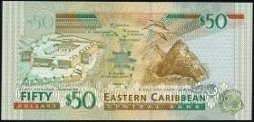 Ost Karibik / East Caribbean P.45a 50 Dollars (2003) Antigua (1)