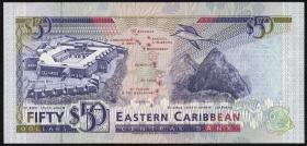 Ost Karibik / East Caribbean P.29k 50 Dollars (1993) (1)